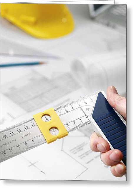 Hard Hats Greeting Cards - Architecture Greeting Card by Tek Image