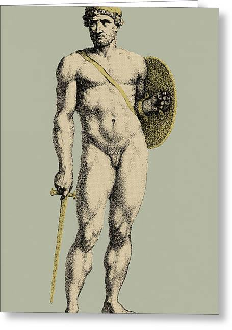 Bloodshed Greeting Cards - Ares, Greek God Of War Greeting Card by Photo Researchers
