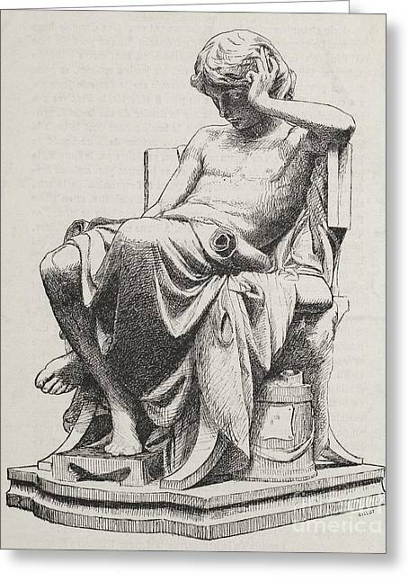 Aristotle Greeting Cards - Aristotle, Ancient Greek Philosopher Greeting Card by Science Source