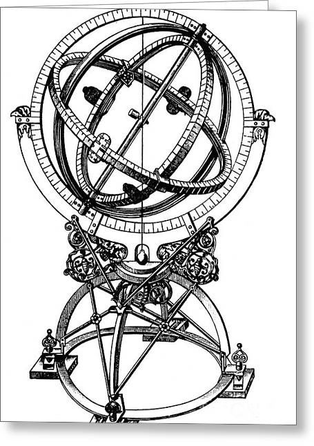 Armillary Greeting Cards - Armillary Sphere Greeting Card by Granger