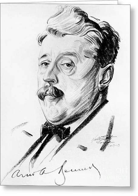 Dramatist Greeting Cards - Arnold Bennett (1867-1931) Greeting Card by Granger