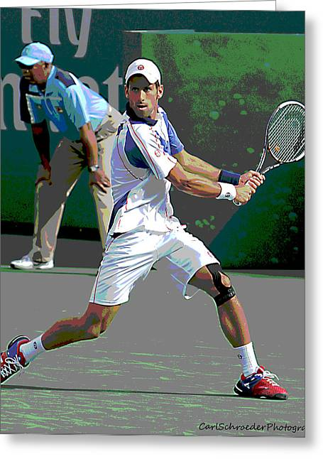Nole Greeting Cards - Art of tennis Greeting Card by Carl Schroeder III