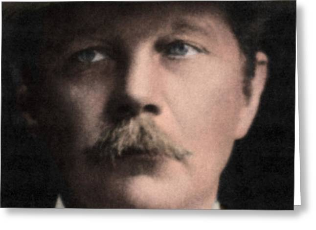 Arthur Conan Doyle, Scottish Author Greeting Card by Science Source