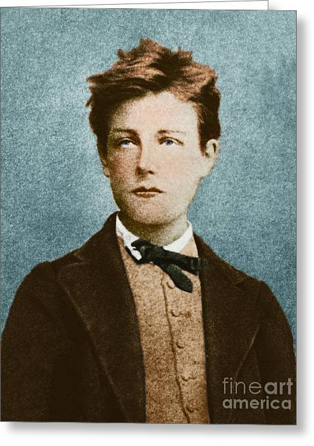 Recently Sold -  - Enhanced Greeting Cards - Arthur Rimbaud Greeting Card by Photo Researchers
