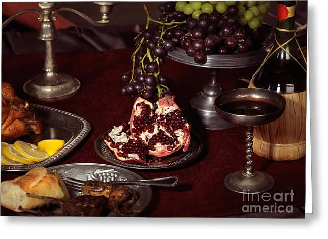 Artistic Food Still Life Greeting Card by Oleksiy Maksymenko