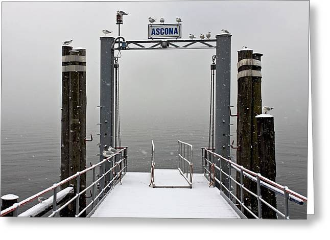 Winter Travel Photographs Greeting Cards - Ascona with snow Greeting Card by Joana Kruse