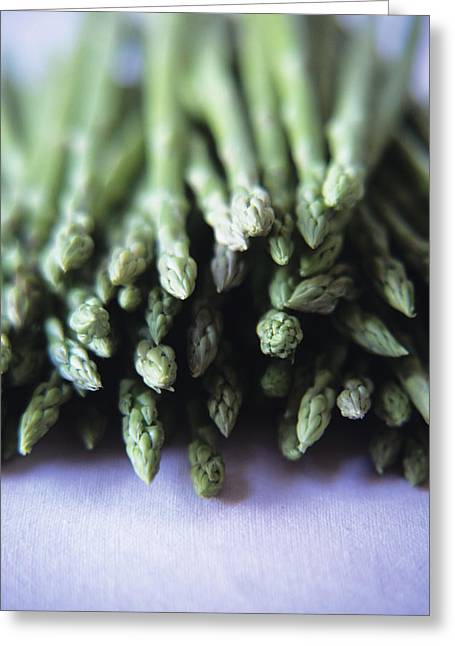 Carotene Greeting Cards - Asparagus Greeting Card by Veronique Leplat