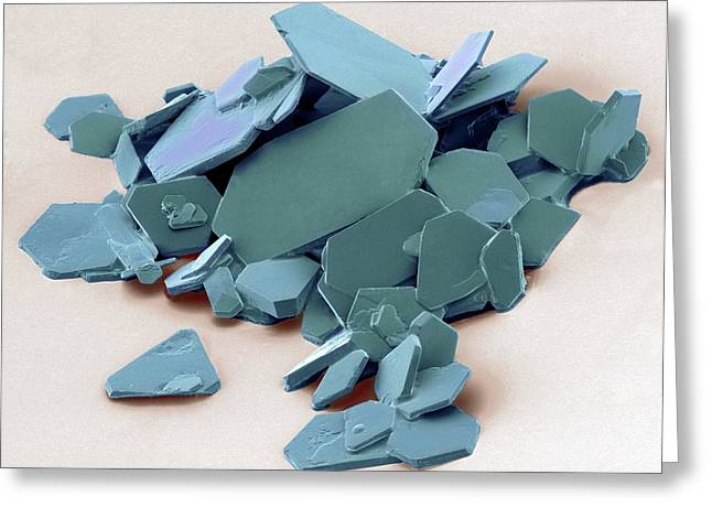 Aspirin Greeting Cards - Aspirin Crystals, Sem Greeting Card by Steve Gschmeissner
