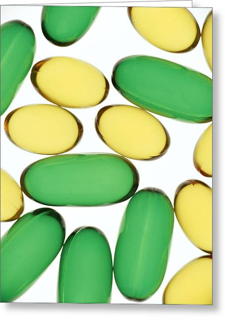 Medication Greeting Cards - Assorted Capsules Greeting Card by Lawrence Lawry
