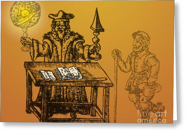 Predicting Greeting Cards - Astrologer, 1490 Greeting Card by Science Source