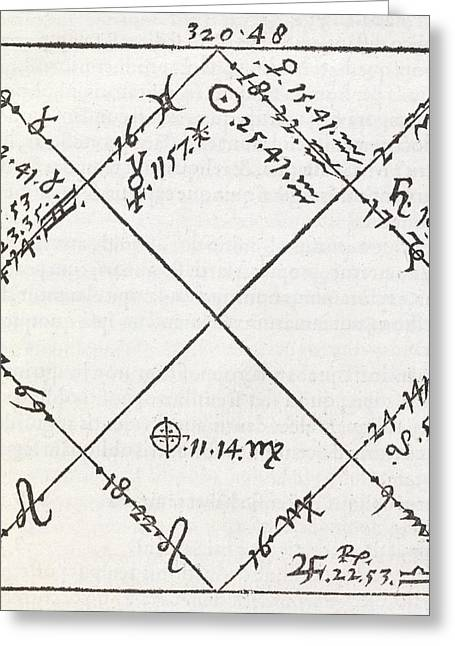 Ephemeris Greeting Cards - Astrology Chart, 16th Century Greeting Card by Middle Temple Library