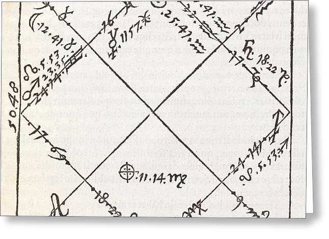 Astrology Chart, 16th Century Greeting Card by Middle Temple Library