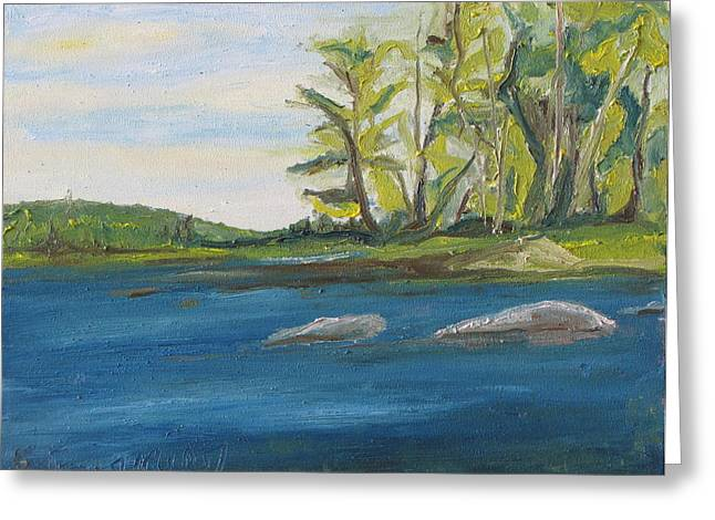 Francois Fournier Greeting Cards - At Barbue Lake Frontenac National Park Lambton Quebec Canada Greeting Card by Francois Fournier