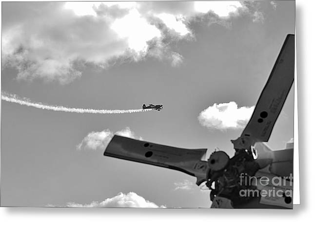 At The Airshow Greeting Card by Don Youngclaus