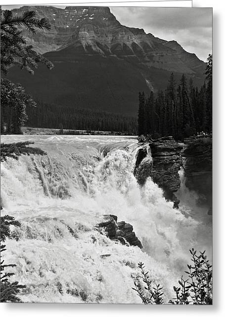 Bw Waterfalls Greeting Cards - Athabasca Falls Greeting Card by RicardMN Photography