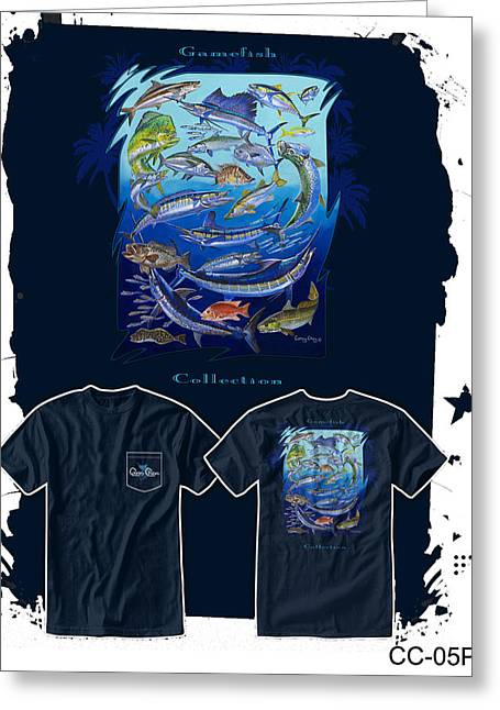 T Shirts Greeting Cards - Atlantic Gamefish Greeting Card by Carey Chen