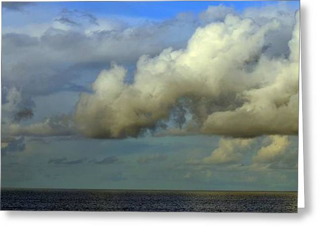 Stormy Weather Greeting Cards - Atmospheric Lighting Greeting Card by Fraida Gutovich