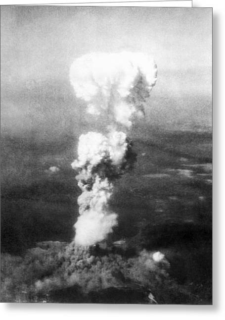 Little Boy Greeting Cards - Atomic Burst Over Hiroshima, 1945 Greeting Card by Us National Archives And Records Administration