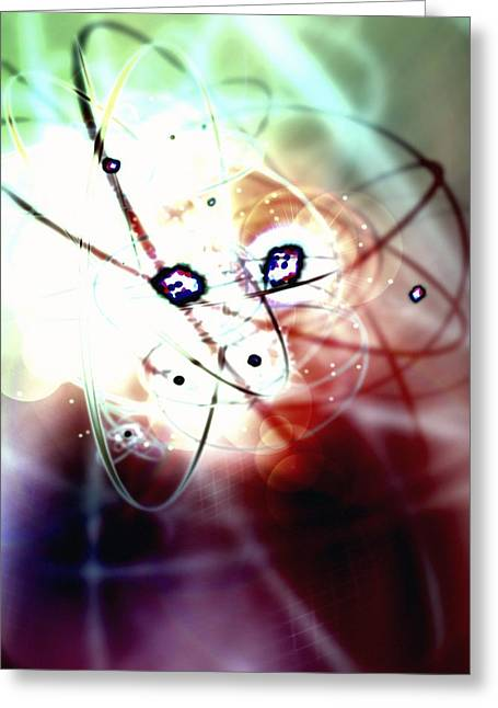 Neutron Greeting Cards - Atomic Energy, Conceptual Artwork Greeting Card by Animate4.comscience Photo Libary