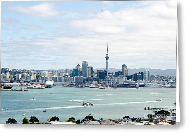 Sardinelly Greeting Cards - Auckland City New Zealand Greeting Card by Yurix Sardinelly