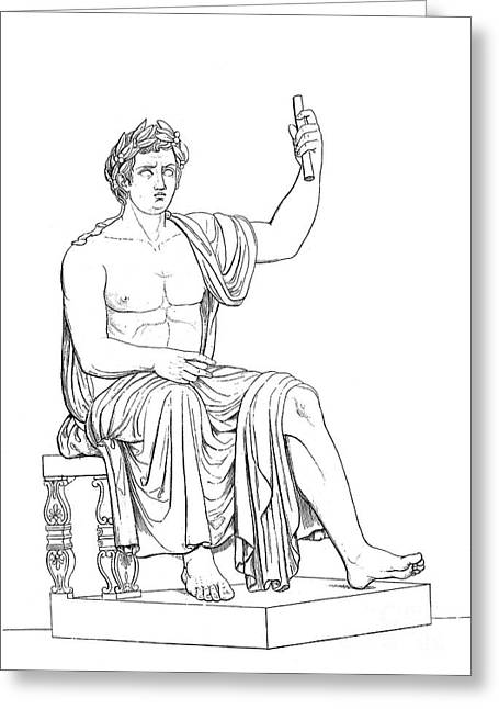 1st Century B.c. Greeting Cards - Augustus (63 B.c.-14 A.d.) Greeting Card by Granger