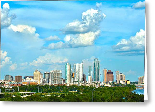 Austin Cityscape Greeting Card by Andrew Nourse