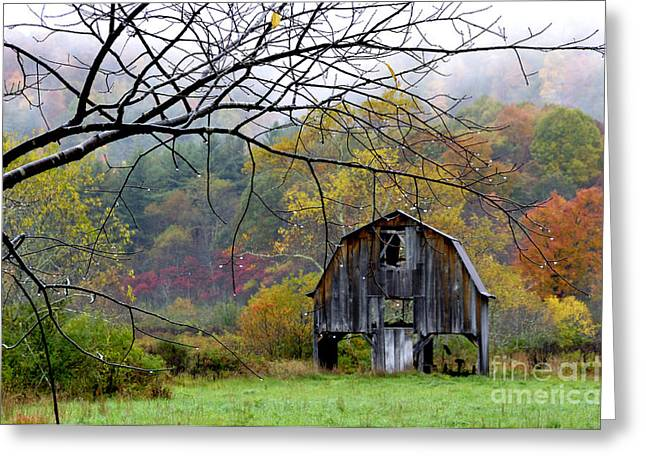 Nicholas Greeting Cards - Autumn Barn Greeting Card by Thomas R Fletcher