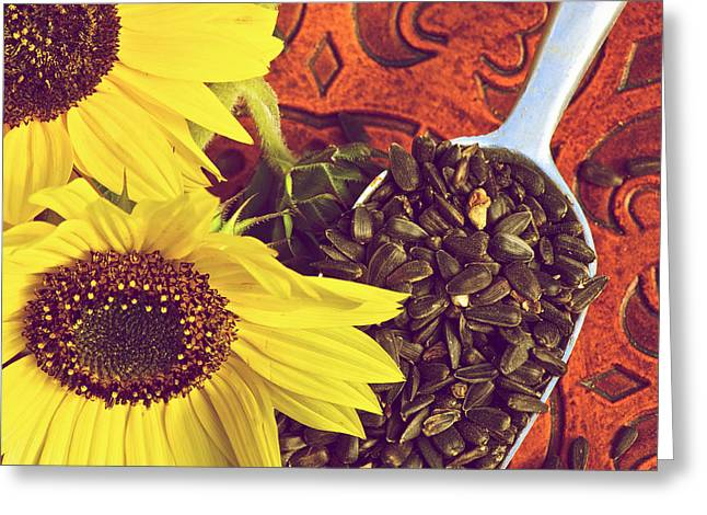 Wooden Bowl Greeting Cards - Autumn. Greeting Card by Kelly Nelson