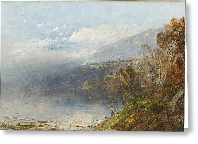 Androscoggin Greeting Cards - Autumn on the Androscoggin Greeting Card by William Sonntag