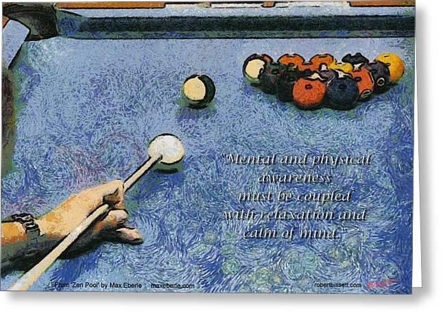 Pool Digital Art Greeting Cards - Awareness Zen Pool Greeting Card by Max Eberle