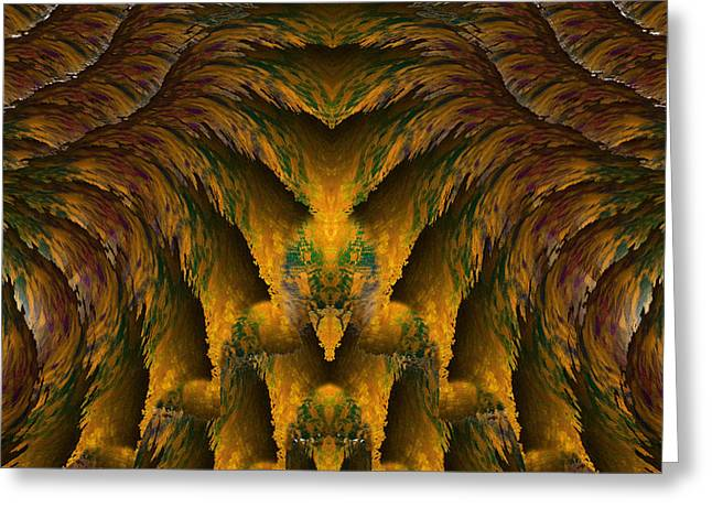 Abstract Expressionism Greeting Cards - Aztec Greeting Card by Christopher Gaston