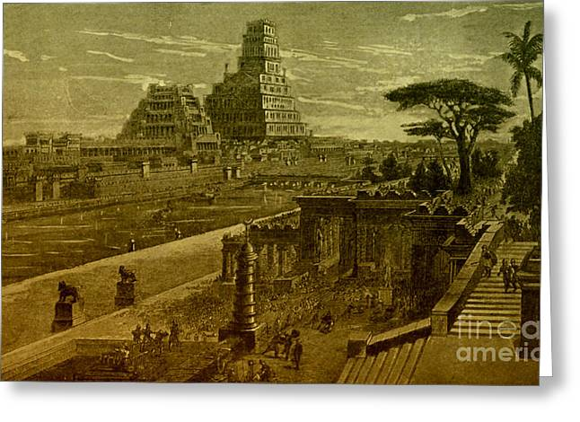 Babylonia Greeting Cards - Babylon Greeting Card by Photo Researchers