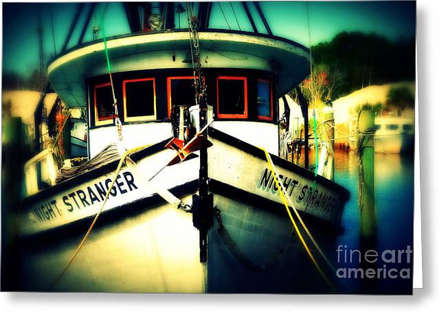 Apalachicola Shrimper Greeting Cards - Back in the Harbor Greeting Card by Susanne Van Hulst