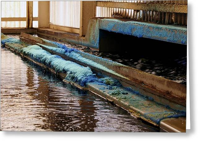 Leach Greeting Cards - Bacterial Copper Ore Processing Greeting Card by Dirk Wiersma