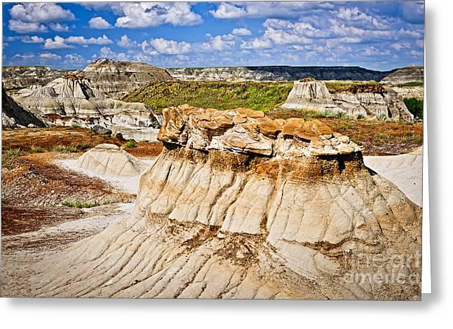 Geology Photographs Greeting Cards - Badlands in Alberta Greeting Card by Elena Elisseeva