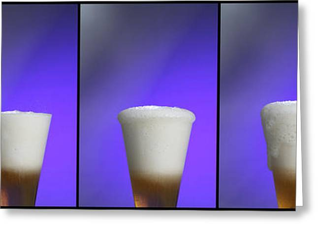 Experiment Greeting Cards - Baking Soda Reacting With Vinegar Greeting Card by Photo Researchers, Inc.