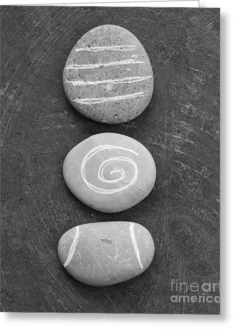 Rock Greeting Cards - Balance Greeting Card by Linda Woods