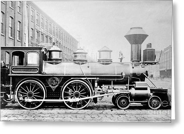 Philadelphia Photographs Greeting Cards - Baldwin Locomotive, 1870 Greeting Card by Granger