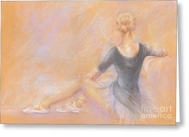 Profile Pastels Greeting Cards - Ballerina Greeting Card by Jovica Kostic