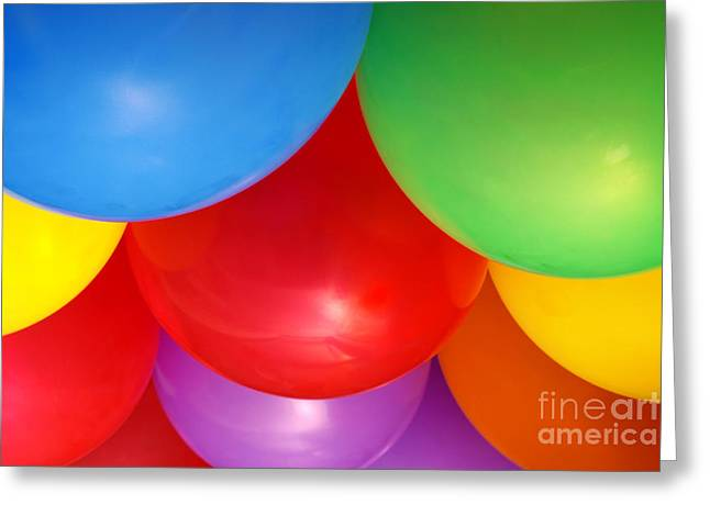 Surprise Greeting Cards - Balloons Background Greeting Card by Carlos Caetano