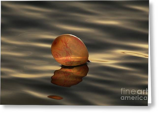 Sweating Photographs Greeting Cards - Balloons on the water Greeting Card by Odon Czintos