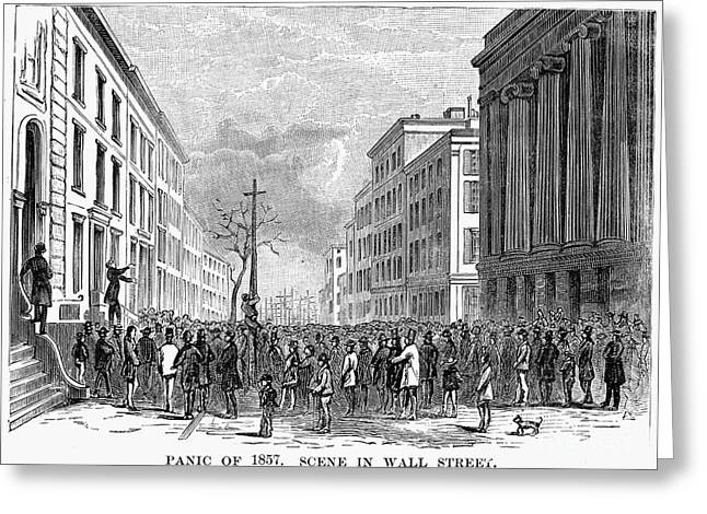 Bank Panic Of 1857 Greeting Card by Granger