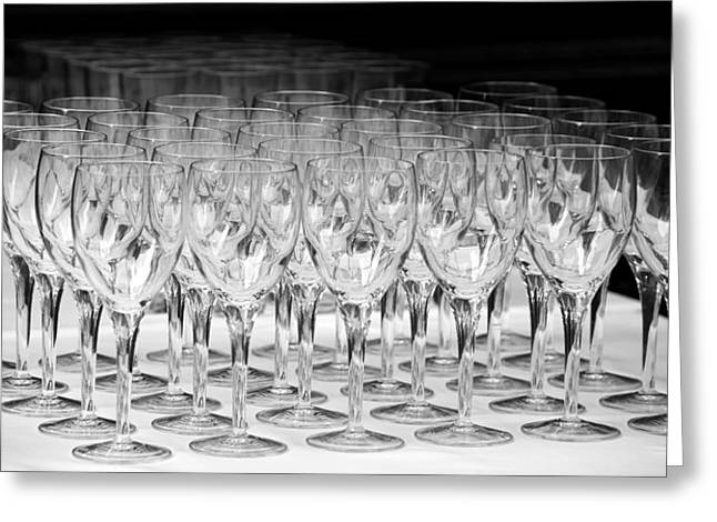 Table Cloth Greeting Cards - Banquet Glasses Greeting Card by Svetlana Sewell