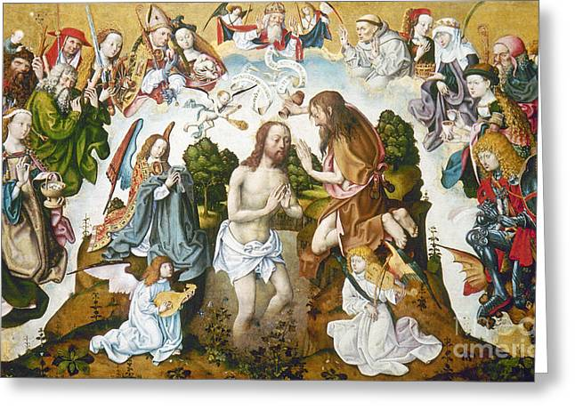 1485 Greeting Cards - Baptism Of Christ Greeting Card by Granger