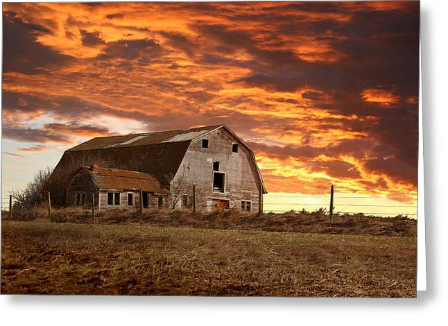 Storm Prints Digital Art Greeting Cards - Barn on Highway 21 Greeting Card by Stan Kwong