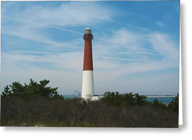 Barnegat Greeting Cards - Barnegat Lighthouse - New Jersey Greeting Card by Bill Cannon