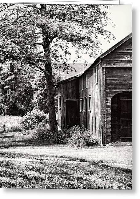 Deerfield Greeting Cards - Barns Greeting Card by HD Connelly