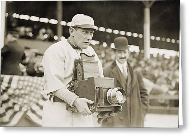 Baseball: Camera, C1911 Greeting Card by Granger