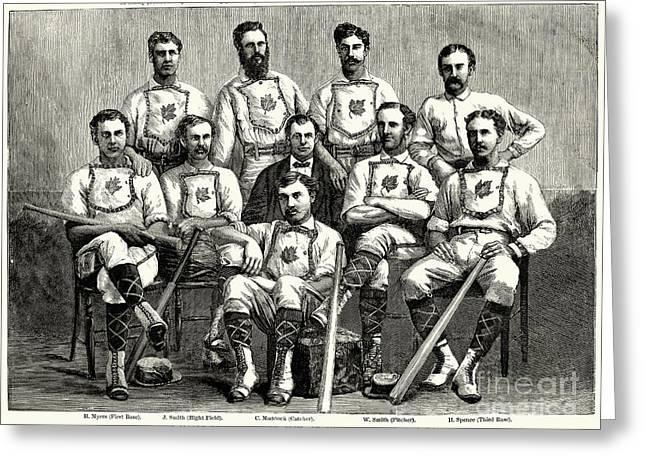 1874 Greeting Cards - Baseball: Canada, 1874 Greeting Card by Granger