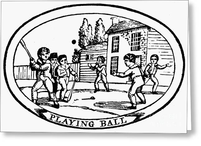 BASEBALL GAME, 1820 Greeting Card by Granger